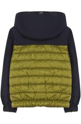 Стеганая куртка с капюшоном Herno зеленого цвета   Фото №1