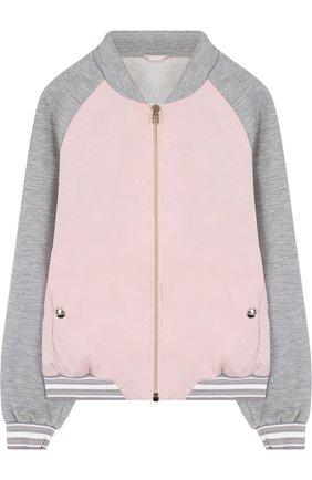 Текстильная куртка-бомбер Herno розового цвета   Фото №1