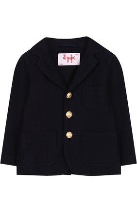 Однобортный пиджак из хлопка с декоративными пуговицами | Фото №1
