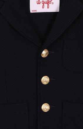 Однобортный пиджак из хлопка с декоративными пуговицами | Фото №3