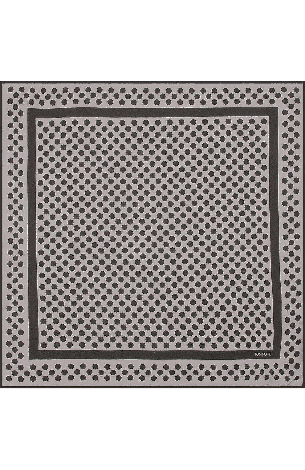 Мужской шелковый платок с узором TOM FORD серого цвета, арт. 3TF102/TF312 | Фото 3