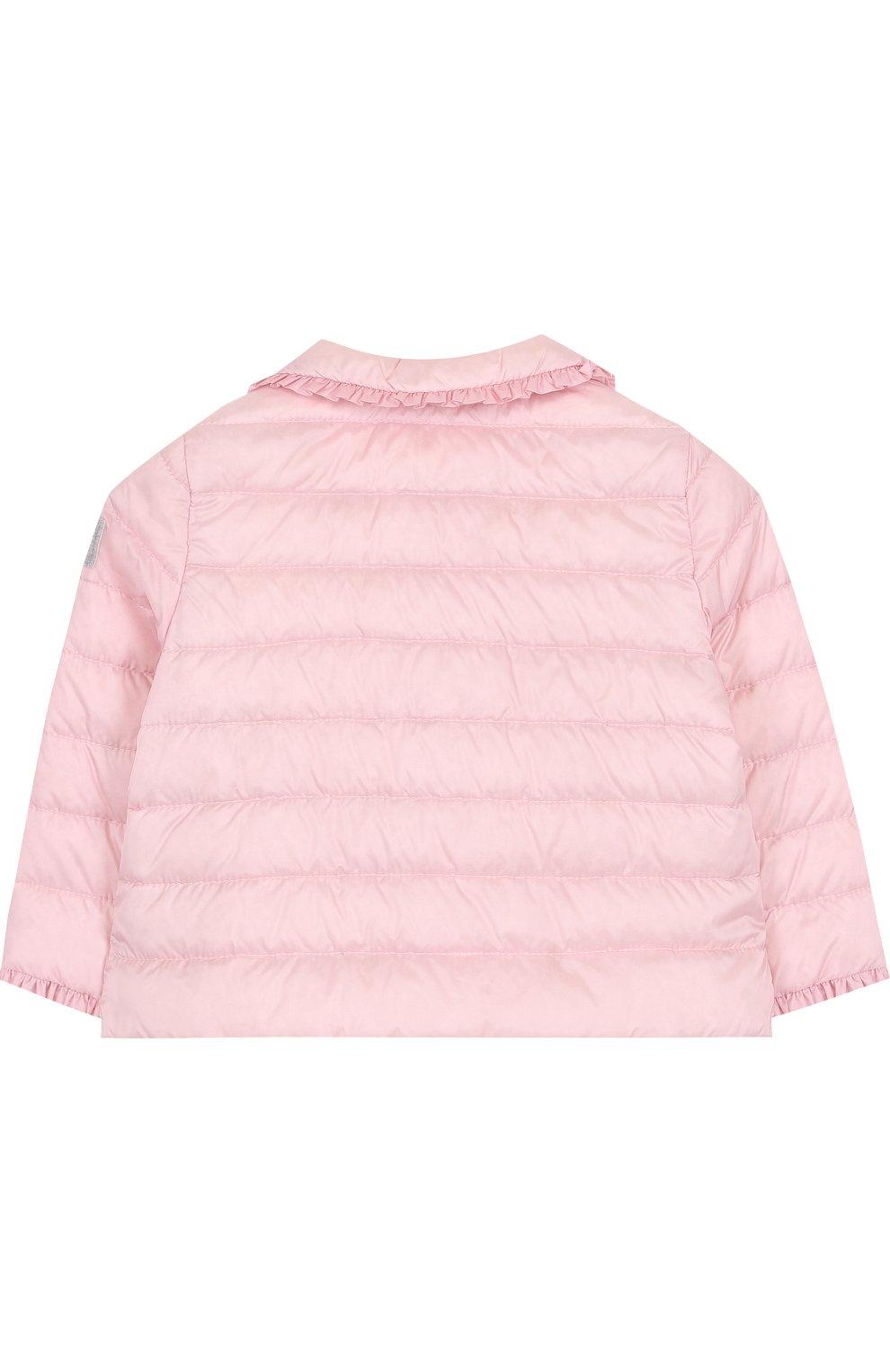 Детского пуховая куртка с оборками IL GUFO розового цвета, арт. P18GR108N0035/2A-4A   Фото 2