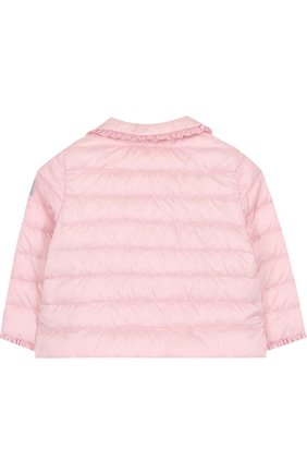 Детского пуховая куртка с оборками IL GUFO розового цвета, арт. P18GR108N0035/2A-4A | Фото 2