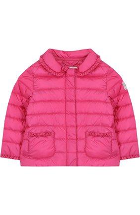 Детского пуховая куртка с оборками IL GUFO фуксия цвета, арт. P18GR108N0035/2A-4A | Фото 1
