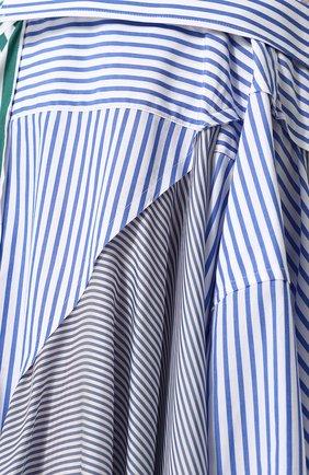 Женская хлопковая юбка асимметричного кроя в полоску SACAI разноцветного цвета, арт. 18-03840 | Фото 5