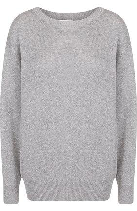 Пуловер свободного кроя из вискозы   Фото №1