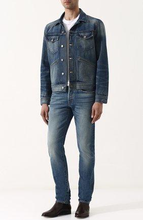 Мужские классические кожаные челси RALPH LAUREN темно-коричневого цвета, арт. 815691077 | Фото 2