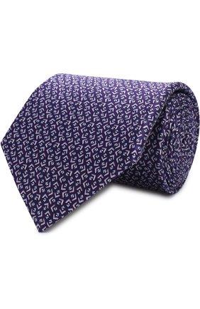 Шелковый галстук с узором | Фото №1