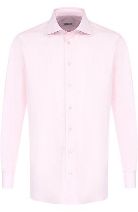 Мужская хлопковая сорочка с воротником акула ZILLI светло-розового цвета, арт. MFP-00101-01703/0003 | Фото 1