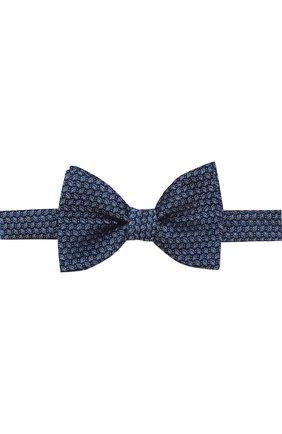 Шелковый галстук-бабочка с узором | Фото №1