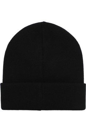 Шерстяная вязаная шапка  с логотипом бренда   Фото №2
