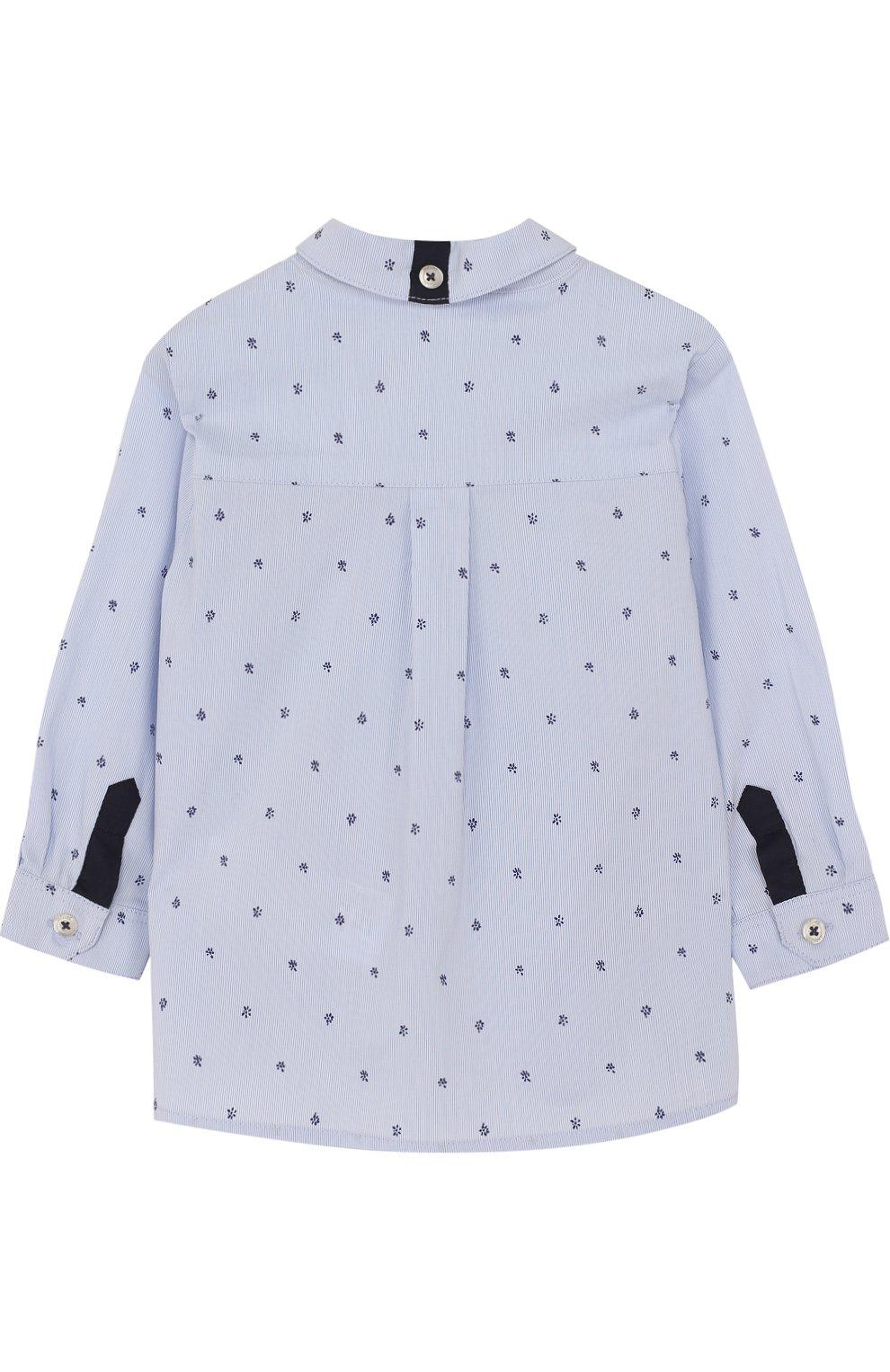 Детский хлопковая рубашка с принтом TARTINE ET CHOCOLAT голубого цвета, арт. TL12081/1M-18M | Фото 2