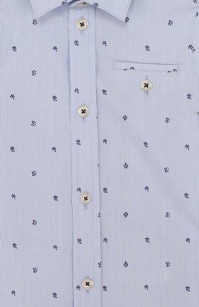 Детский хлопковая рубашка с принтом TARTINE ET CHOCOLAT голубого цвета, арт. TL12081/1M-18M | Фото 3