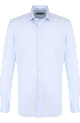Мужская хлопковая сорочка с воротником кент ANDREA CAMPAGNA голубого цвета, арт. NU0VA MUSS0LA F 352238 | Фото 1