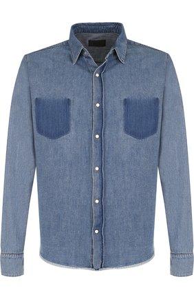 Рубашка из денима с потертостями | Фото №1