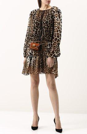Женская поясная сумка gv3 nano GIVENCHY темно-коричневого цвета, арт. BB6018B033 | Фото 2
