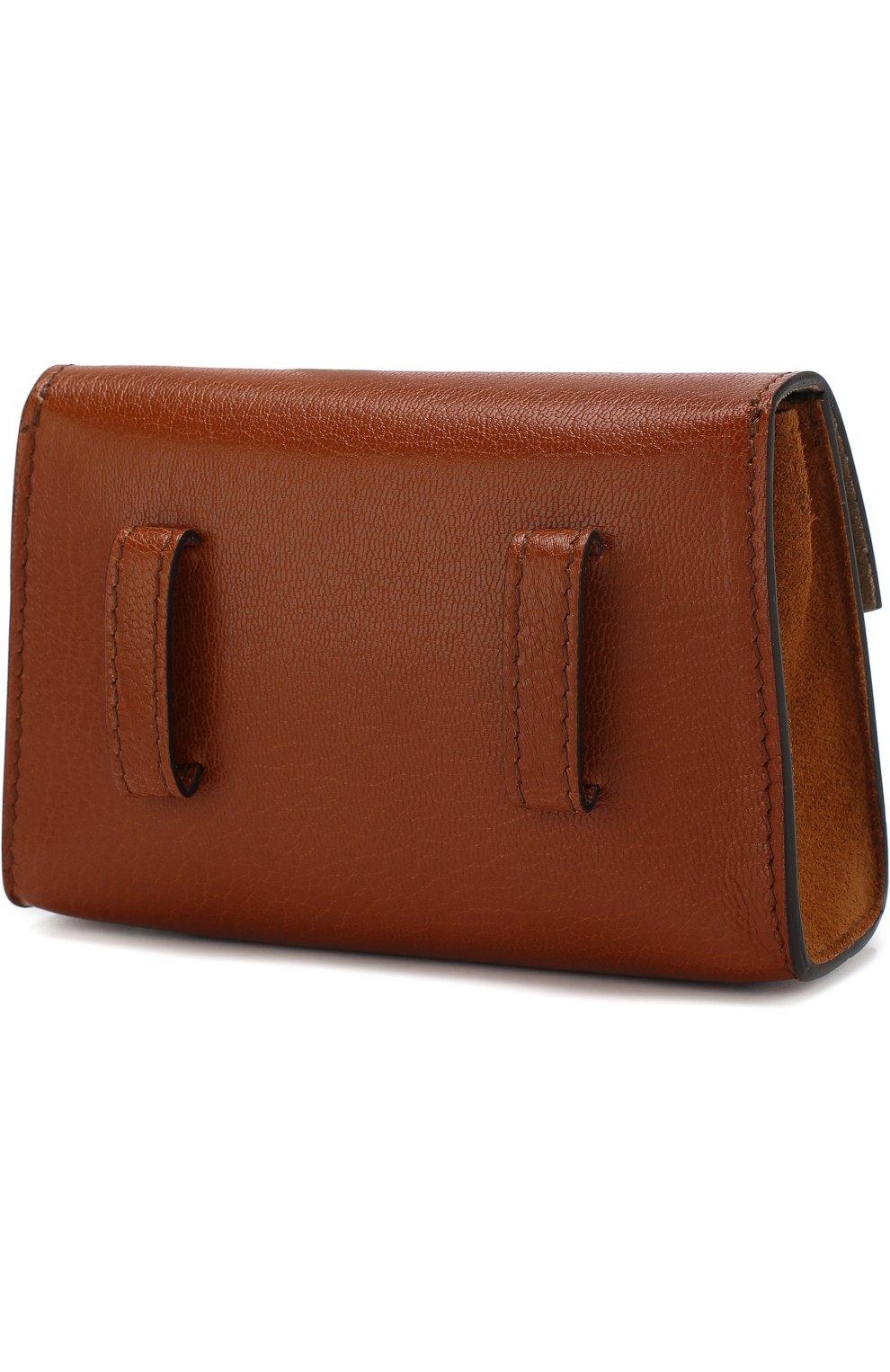 Женская поясная сумка gv3 nano GIVENCHY темно-коричневого цвета, арт. BB6018B033 | Фото 3