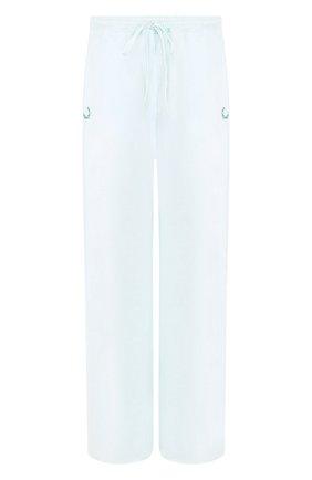 Однотонные расклешенные брюки из хлопка | Фото №1