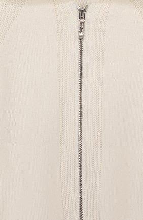Детский кашемировый кардиган на молнии с капюшоном LORO PIANA белого цвета, арт. FAI0796 | Фото 3
