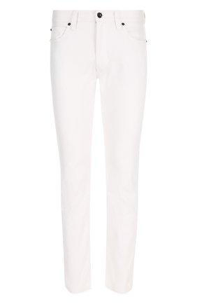 Мужские джинсы прямого кроя GIORGIO ARMANI белого цвета, арт. 3ZSJ15/SN20Z | Фото 1