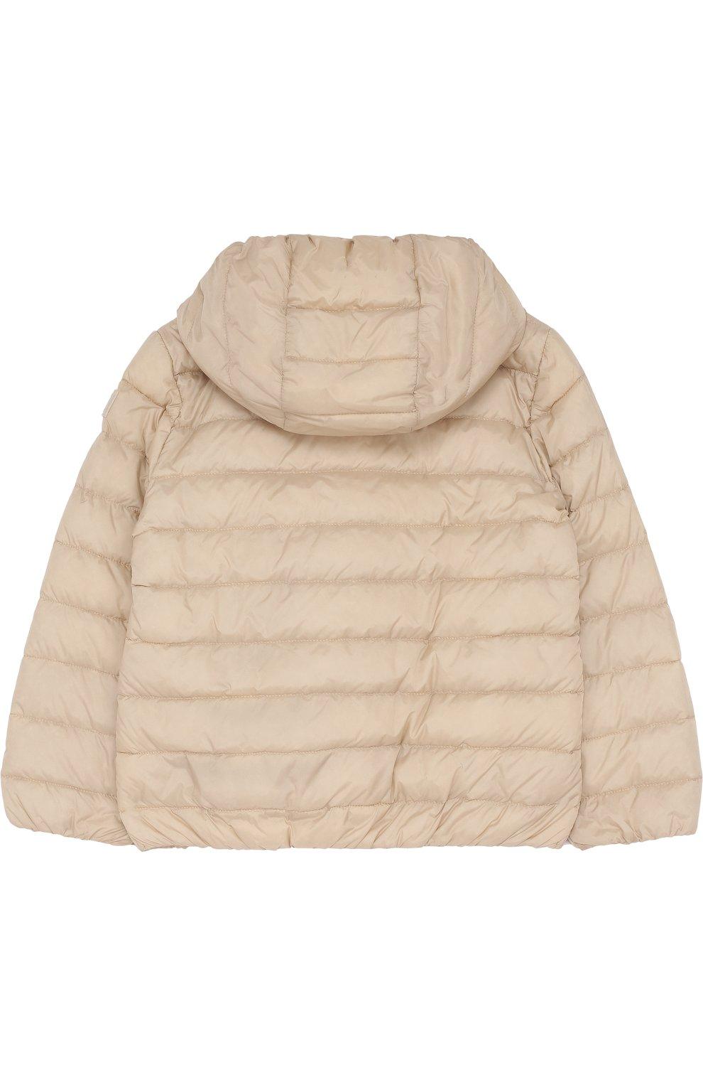 Детского пуховая куртка с капюшоном IL GUFO бежевого цвета, арт. P18GR088N0035/5A-8A | Фото 2