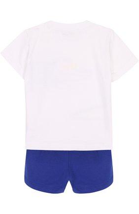 Детский хлопковый комплект из футболки и шорт IL GUFO синего цвета, арт. P18DP1A1M0014/12M-18M | Фото 2