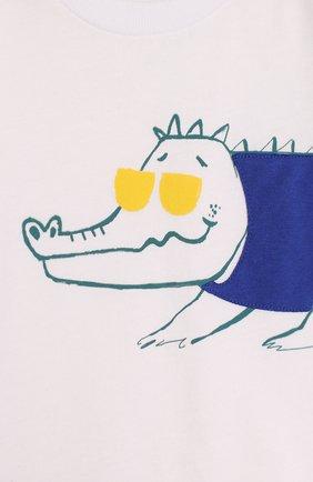 Детский хлопковый комплект из футболки и шорт IL GUFO синего цвета, арт. P18DP1A1M0014/12M-18M   Фото 3