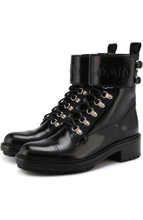Кожаные байкеры Army на шнуровке | Фото №1