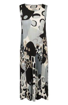 Плиссированное платье-миди с принтом | Фото №1