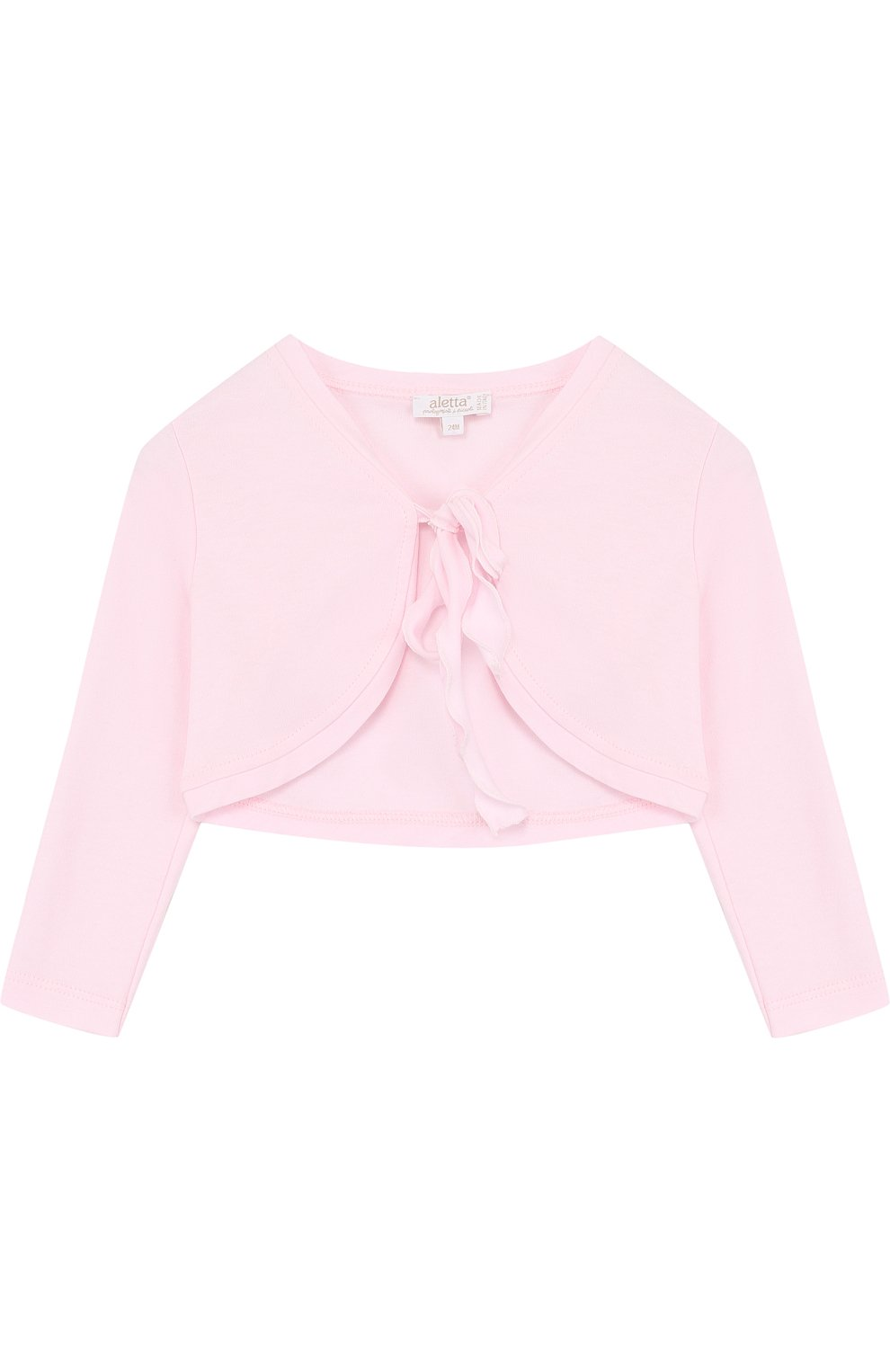 Детский хлопковое болеро ALETTA розового цвета, арт. RJ88648/24M | Фото 1