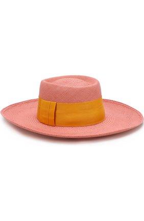 Соломенная шляпа с лентой Artesano розового цвета | Фото №1