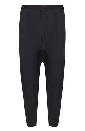 Укороченные брюки с заниженной линией шага Ziggy Chen темно-синие | Фото №1