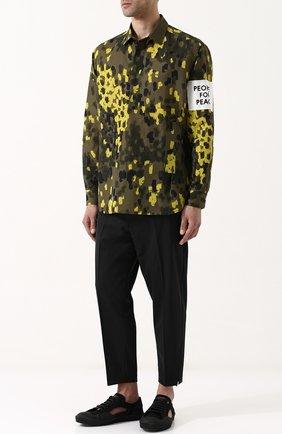 Рубашка из смеси льна и хлопка Oamc разноцветная | Фото №1