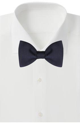 Мужской шелковый галстук-бабочка LANVIN темно-синего цвета, арт. 1282/B0W TIE   Фото 2