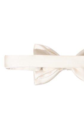Мужской шелковый галстук-бабочка LANVIN белого цвета, арт. 1282/B0W TIE | Фото 3