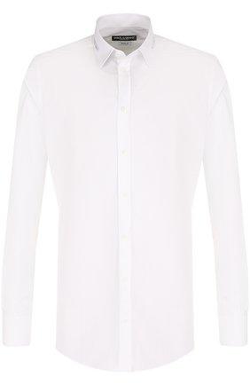 Мужская хлопковая сорочка с воротником кент DOLCE & GABBANA белого цвета, арт. G5EY2T/FU5GK | Фото 1