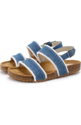Текстильные сандалии на ремешке | Фото №1