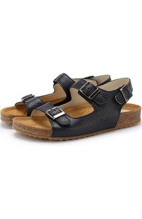 Кожаные сандалии на ремешках | Фото №1