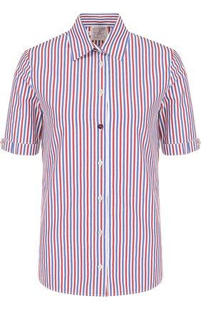 Блуза прямого кроя с коротким рукавом | Фото №1
