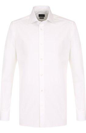 Мужская хлопковая сорочка с воротником кент Z ZEGNA белого цвета, арт. 301063/9HS0MT | Фото 1
