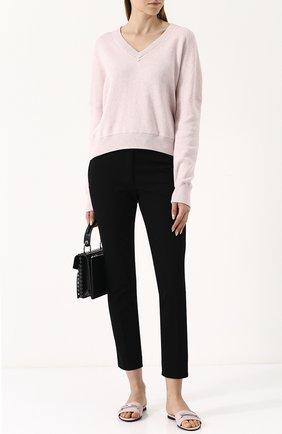 Укороченные брюки прямого кроя Joseph черные | Фото №1