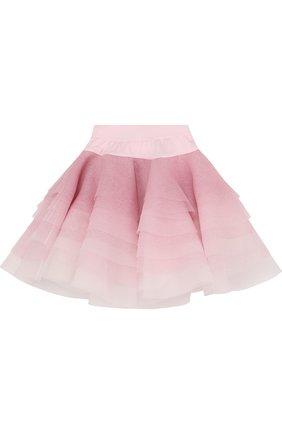 Многослойная юбка с глиттером и стразами на поясе   Фото №2
