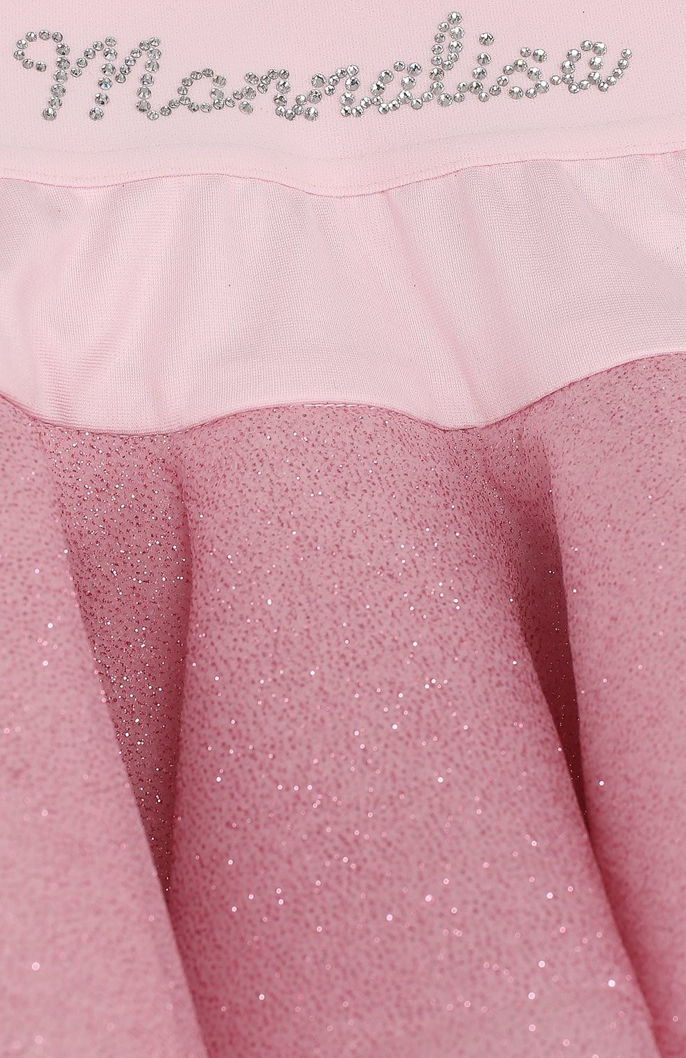 Многослойная юбка с глиттером и стразами на поясе   Фото №3