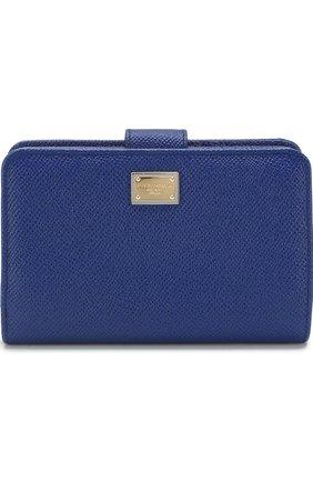 Женские портмоне DOLCE & GABBANA синего цвета, арт. 0116/BI0769/A1001 | Фото 1