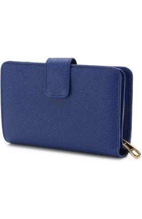 Женские портмоне DOLCE & GABBANA синего цвета, арт. 0116/BI0769/A1001 | Фото 2