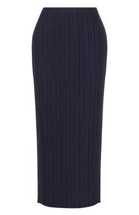 Однотонная плиссированная юбка-миди | Фото №1