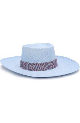 Соломенная шляпа с плетеной лентой | Фото №1