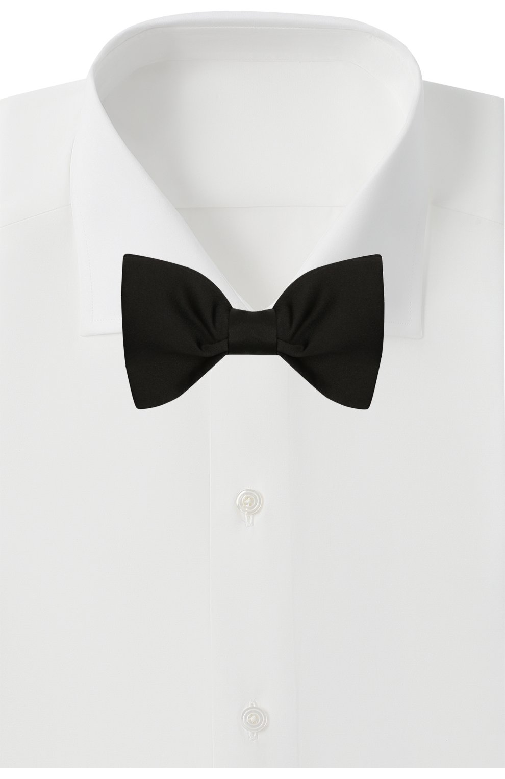 Мужской шелковый галстук-бабочка LANVIN черного цвета, арт. 1282/B0W TIE   Фото 2