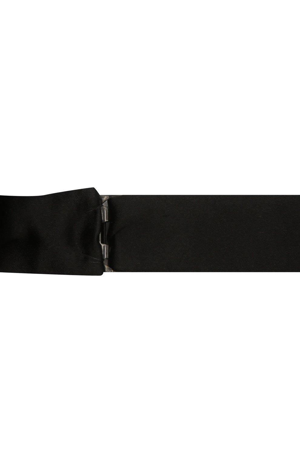 Мужской шелковый галстук-бабочка LANVIN черного цвета, арт. 1282/B0W TIE   Фото 3