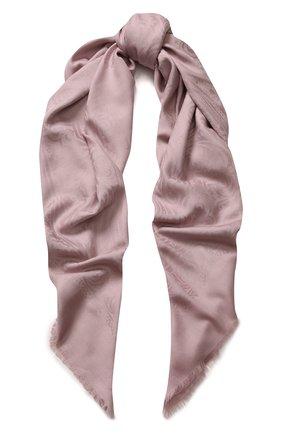 Платок из смеси шерсти и шелка с узором | Фото №1